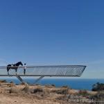 Pasarela panorámicaen el Parque Natural del Cabo de Santa Pola.